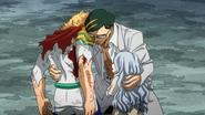 Sir Nighteye hugs Mirio and Eri (anime)