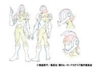 Hanta Sero Costume Shading TV Animation Design Sheet