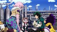 Izuku formulates a plan with his team