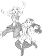 Ochaco and Tsuyu Sketch