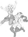 Ochaco and Tsuyu Sketch