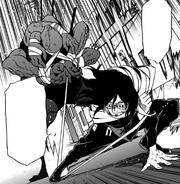 Aizawa captures Octoid with his bidding cloth.png