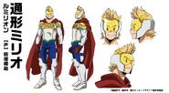 Mirio Togata Hero Costume TV Animation Design Sheet