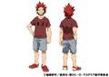 Eijiro Kirishima Casual TV Animation Design Sheet