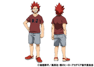 Eijiro Kirishima Casual TV Animation Design Sheet