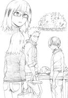 Shoto y Natsuo tratando de hacer soba - 5ta novela ligera