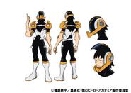 Hanta Sero Costume TV Animation Design Sheet