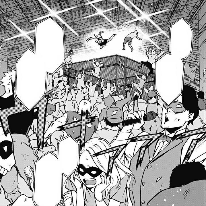 Rumi Usagiyama vs. Masquerade Attendees