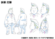 Dadan Tadan Shading OVA Animation Design Sheet