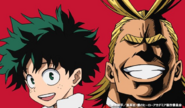 Izuku and All Might Colored Profile