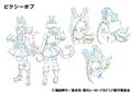 Pixie-bob Shading TV Animation Design Sheet