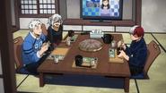 The Todoroki siblings eating