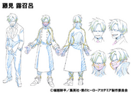 Romero Fujimi Shading OVA Animation Design Sheet