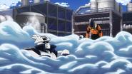 Juzo makes Tenya sink into the softened ice