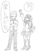 Boceto - Tsuyu y Kirishima