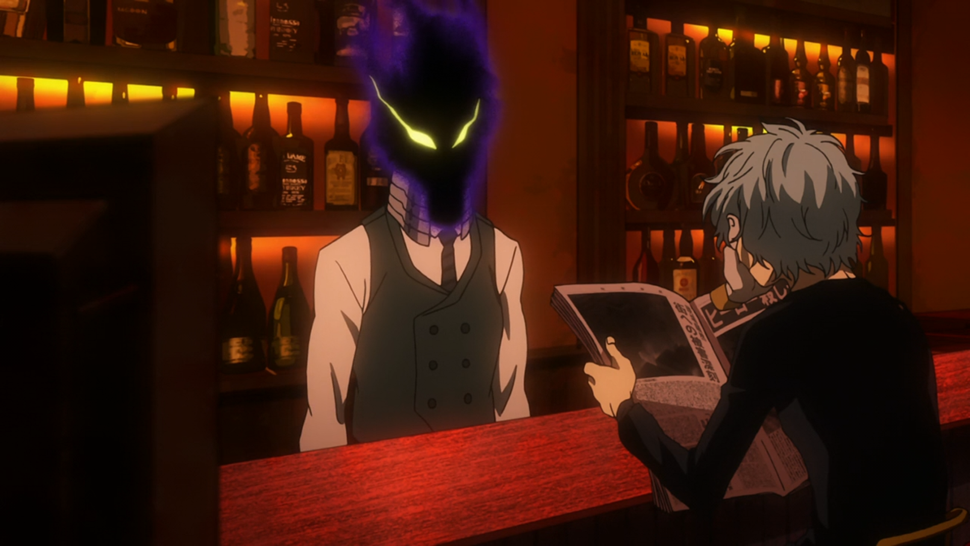 Tomura and Kurogiri comment on the news about Stain.png