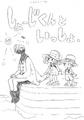 Mezo with Mahoro and Katsuma Sketch