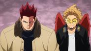 Endeavor and Hawks walking down the street