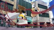 Tamaki bloquea el ataque de Mashirao