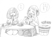 Ochaco and Kinoko Sketch