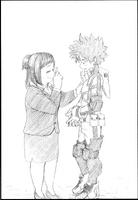 Izuku y su madre - 1era novela ligera