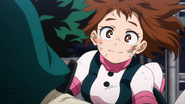 Ochaco is glad Izuku is alright