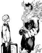 Endeavor promises to make Shoto proud