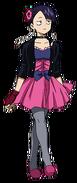 Kyoka con un vestido formal
