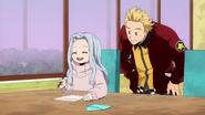 Eri writing letters for Mirio and Izuku