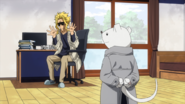 Nezu visits Toshinori