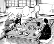 The todoroki family eating