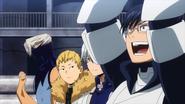 Class 1-A team walks to their position (Anime)