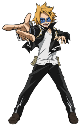 Denki Kaminari 2nd Hero Costume Action.png