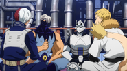 Tenya's team discuss the plan for their match