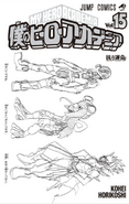 Volume 15 Hanta, Tsuyu and Eijiro Hero Costume Prototypes