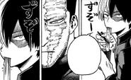 Shoto comments on Endeavor's scar while slurping his noodles