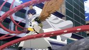 Tamaki haciéndose pasar por un Villano contra la Clase 1-A