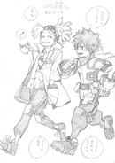 Izuku and Rody Sketch