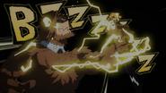 Denki electrocutes Jurota