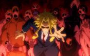 Toshinori Yagi surrounded by zombies
