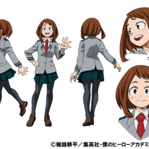 Ochaco Uraraka School Uniform TV Animation Design Sheet.png