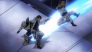 Ingenium stops Spiral's attack (Anime)