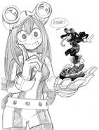 Boceto de Tsuyu Asui