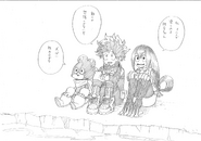 Boceto por la pagina web del anime