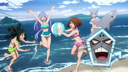 Selkie let the girls have fun
