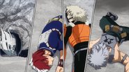 Tenya, Shoto, Juzo and Tetsutetsu are down