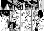 Izuku, Tenya, Katsuki and Shoto arriving at the facility