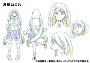 Nejire Hado Shading TV Animation Design Sheet
