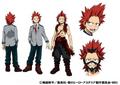 Eijiro Kirishima TV Animation Design Sheet