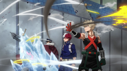 Katsuki, Shoto e Inasa repelen los ataques de los niños